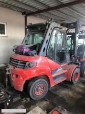 S670 [2009] Wózek Widłowy Linde H80T gaz 8t