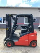 S801 [2014] WÓZEK WIDŁOWY LINDE H18D diesel 1,8t duplex z wolnym skokiem, przesuw boczny