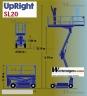 S130 PODNOŚNIK KOSZOWY UPRIGHT SL20 wózek zacina się - zdjęcie nr 7
