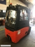 S603 [2008] WÓZEK WIDŁOWY elektryczny LINDE E16 1,6t triplex, kabina, przesuw - zdjęcie nr 3
