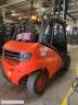 S761 [2012] WÓZEK WIDŁOWY LINDE H50T GAZ 5ton kontener wysokość 2,2m, przesuw boczny - zdjęcie nr 2