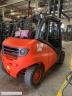 S761 [2012] WÓZEK WIDŁOWY LINDE H50T GAZ 5ton kontener wysokość 2,2m, przesuw boczny - zdjęcie nr 4