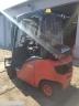 S792 [2014] WÓZEK WIDŁOWY LINDE H20T gaz 2t triplex z wolnym skokiem, przesuw boczny - zdjęcie nr 4